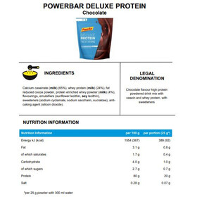 PowerBar Deluxe Protein Beutel 500g Chocolate